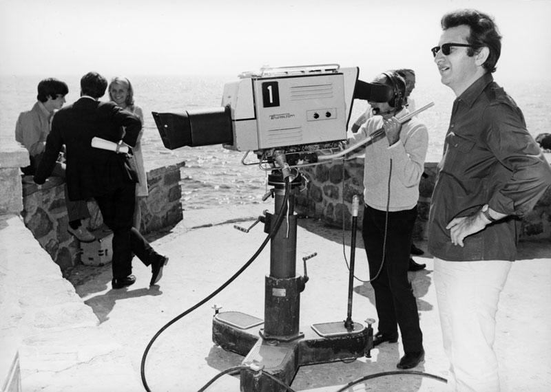 Sur le tournage du Testament d'Orphée de Cocteau, 1965