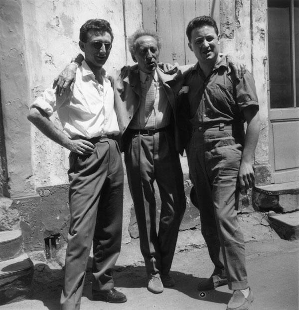 Lucien Clergue, Cocteau & Jean Marie Magnan, Arles 1958