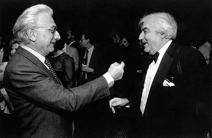 Lucien Clergue avec Cornell Capa ICP Awards 1989
