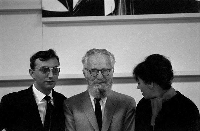 LC, Edward Steichen et Yolande au MoMA 1961