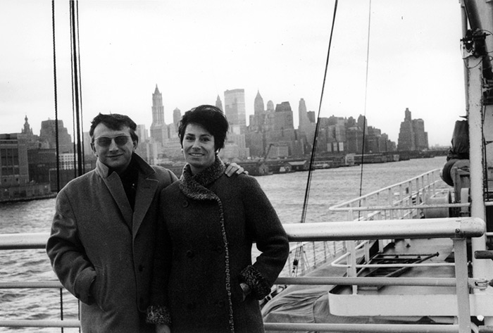 Lucien & Yolande Clergue, New York 1961