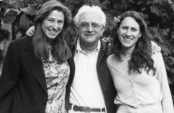Lucien Clergue with his daughters 1993
