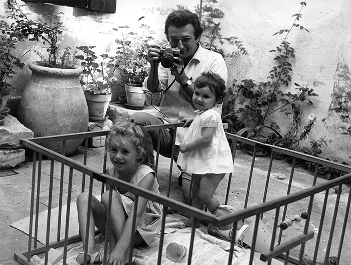 Lucien Clergue photographs his daughters, Arles 1968