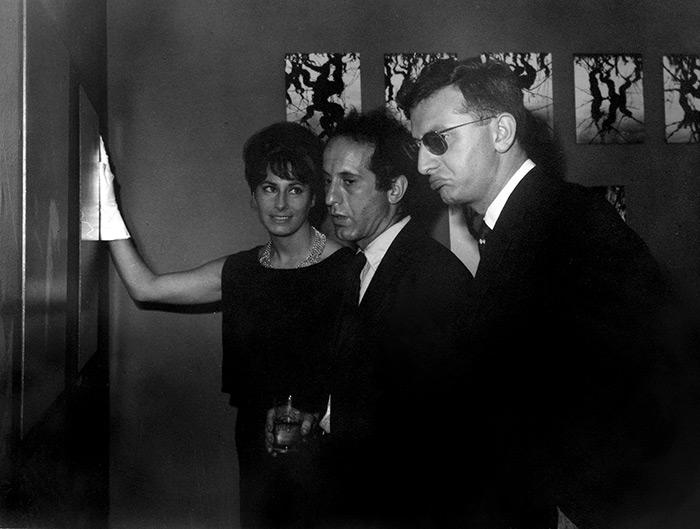 MoMA 1961 Opening with Robert Franck, Yolande et Lucien Clergue